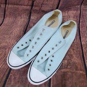 Converse without laces light blue